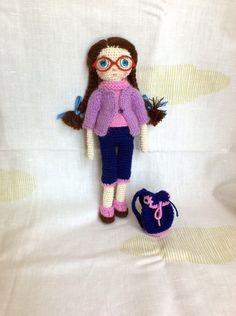 Crochet doll Crochet toy Gift for daughter by HouseInspiration