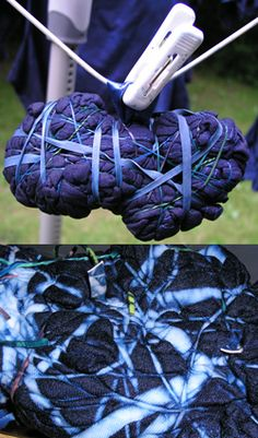 Striking contrast with strong shibori ties Shibori Fabric, Shibori Tie Dye, Fabric Art, Ombre Fabric, Dyeing Fabric, Fabric Dyeing Techniques, Textiles Techniques, Tye Dye, Inchies