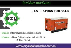 Diesel Generator, four pole, three phase and enclosed. The Kubota 22 kVA Diesel Generator provide a much quieter, efficient. Generators For Sale, Office Suite, Kubota, Things To Come
