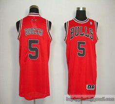 Revolution 30 Bulls  5 Carlos Boozer Red Embroidered NBA Jersey 7e43a10d9
