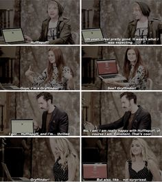 Harry Potter actors sorted on Pottermore -- I love Matthew's (Neville's) reaction!