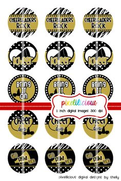Bottle Cap Image Sheet  Instant Download  by pixelilicious on Etsy, $2.00