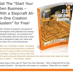 81 Best Start Your Own Business With Stepcraft Https Stepcraft