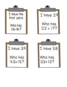 Double Digit Addition Math Stations and Activities-To do with other subjects