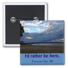 """Customizable Template """"I'd Rather Be Here"""" button"""
