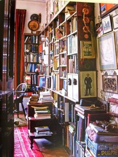 Turquoise sitting room with LibraryReading AreaEnglish Decoration by Ben Pentreath Reading Room I would love my own little reading nook .... wouldn't you? All the images I have chosen are so eclectic,