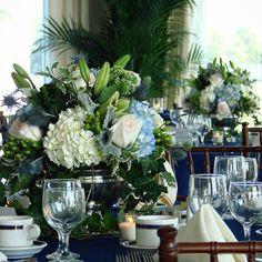 #c2mdesigns #floral #floraldesign #centerpiece #gardenstyle #silver #blue #white #hydrangea #lilies #sedum #hypericum #dustymiller #thistle #ivy #event #eventdecor #wedding #anniversary #countryclub #quidnessett #rhodeisland #oceanside #formal #elegance #style #designsthatrock #likeC2MdesignsFacebook Designer: #christinemccaffery