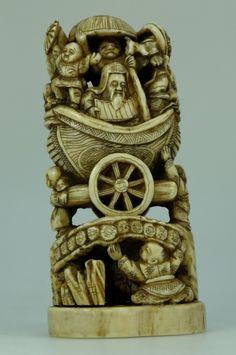 Auction of Antiques, Fine Art & Rare Pottery, Militaria, Jewellery &… Oriental, Lion Sculpture, Auction, Ivory, Carving, Pottery, Japanese, Fine Art, Statue