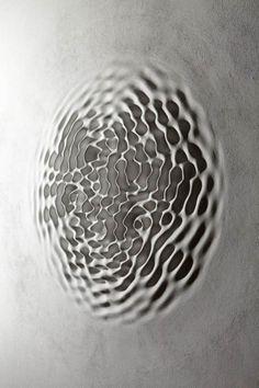 Loris Cecchini's Relief Sculptures Replicate Sound Waves Graphisches Design, Wave Design, Sound Design, Sound Sculpture, Sculpture Art, Sound Art, 3d Texture, Wave Art, Generative Art