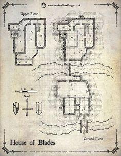 The House of Blades - (c) 2016 MonkeyBlood Design/Glynn Seal