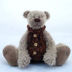 Tom by Bearitz Handmade collectible teddy bear.
