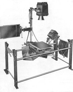 X-Ray Machine and Table Unit assembled for horizontal roentgenography. US Army X-Ray Field Unit | WW2 US Medical Research Centre