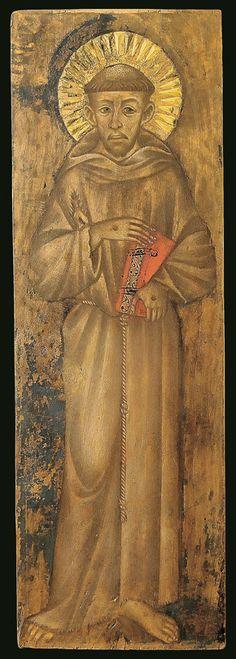 Cimabue (Cenni di Pepo detto, Firenze, 1272 -1301) - San Francesco -1280 circa - tempera e oro su tavola -  Assisi, Museo  della Porziuncola