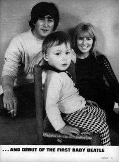 John, Cynthia and Julian Lennon.... Julian the first Beatle Baby Born