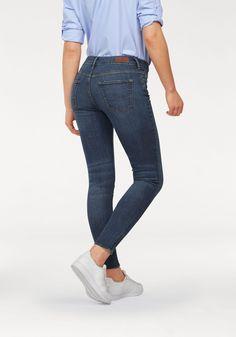 Damen Cross Jeans Skinny-fit-Jeans Giselle im 5-Pocket-Style blau 529ba42a41