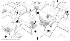 """ALICE IN WONDERWALL – 32 DWELLINGS With this project for TEMPERE (Finland) the Italian architects Mariabruna Fabrizi, Fosco Lucarelli, Didier Numanovic were """"runner up"""" at Europan 10."""