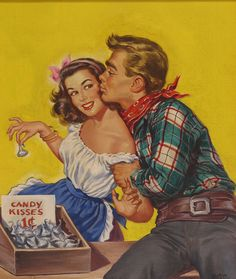 Talented artist Gloria Stoll Karn is recognized for her contributions during the one of very few female illustrators for popular store magazines. Romance Art, Vintage Romance, American Illustration, Couple Illustration, Pulp Fiction Art, Pulp Art, Pin Up, Vintage Couples, Norman Rockwell