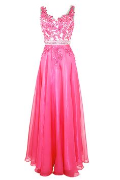 Prom Dresses,Evening Dress,Prom Gown,Pretty A-line V-neck Long Chiffon