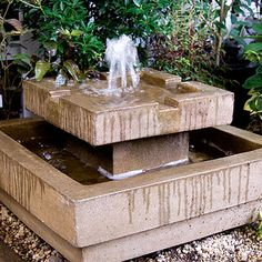 Nice fountain for the modern garden.