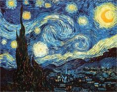 Starry Night - Van Gogh. idea for a watercolor tattoo