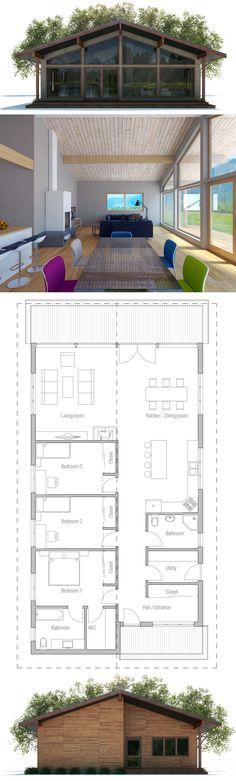 House Design, Home Plan, Floor Plans, Architecture, New Home Plan New House Plans, Modern House Plans, Small House Plans, House Floor Plans, Prefab Homes, Future House, Building A House, Building Ideas, Architecture Design