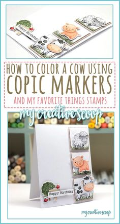 How to Color a Cow using Copic Markers - My Creative Scoop