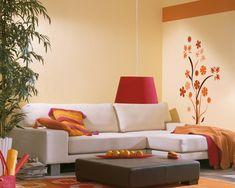 wohnzimmer deko orange natrliche farbgestaltung in erdtnen ... - Wohnzimmer Deko Orange