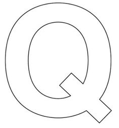 Légend image within letter q printable