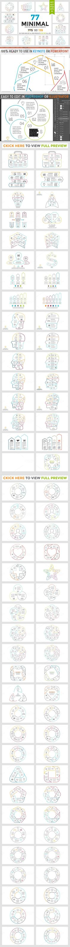 MINIMAL - Creative Infographics. Travel Infographics. $13.00