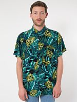 American Apparel - Printed Rayon Challis Short-Sleeve Button-Up Shirt - but for a girl, not a guy Short Sleeve Button Up, Button Up Shirts, Collar Shirts, American Apparel, Mens Fashion, Fashion Trends, Men Casual, Mens Tops, How To Wear