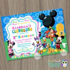Mickey Mouse Clubhouse invitación cumpleaños Mickey Mouse