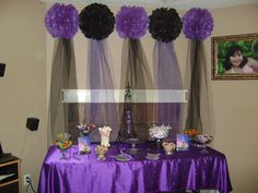 Cute Purple And Black Lanterns Used As Party Decor Party Ideas