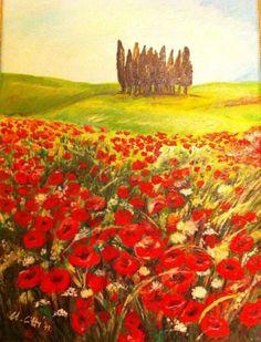2013 Campo di fiori  Olio su tela, 20 x 30 cm