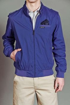 Members Only Iconic Classic Racer Jacket Azure Blue