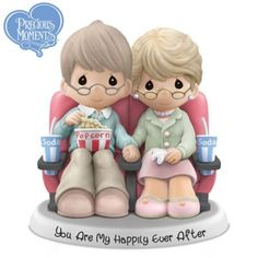 Limited-edition Precious Moments figurine celebrates your love as a big-screen romance. Handcrafted in fine bisque porcelain with sweet sentiment.
