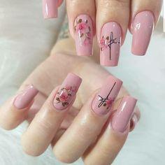Nail Manicure, Diy Nails, Cute Nails, Pretty Nails, Nail Polish, Acrylic Nail Designs, Nail Art Designs, Acrylic Nails, Nail Swag