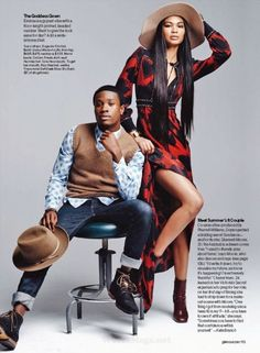 Chanel Iman and Shameik Moore by Cedric Buchet for Glamour Magazine July 2015