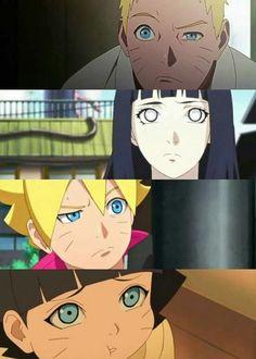 Naruto,Hinata,Boruto y Himawari Naruto Kakashi, Anime Naruto, Naruto Cute, Naruhina, Himawari Boruto, Shikatema, Narusasu, Hinata Hyuga, Uzumaki Family