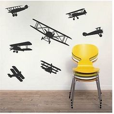 World & Travel Wall Decals | Airplane Wall Decals | b18