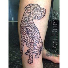 tribal dog tattoo