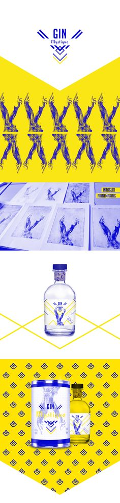 Graphic design, illustration and packaging for Mystique Gin by Inês F Mota Lisbon, Portugal. PD