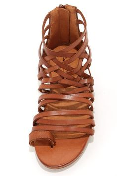 Sixtyseven 75961 Ashley Vachetta Brandy Gladiator Sandals