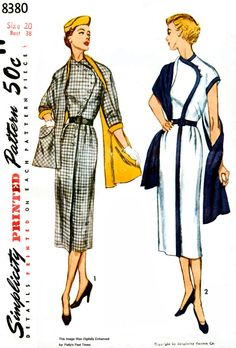 Simplicity 8380  Retro 1950's Sewing Pattern by PattysPastTimes