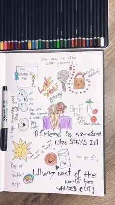 Send this to your bff! Best Friend Drawings, Bff Drawings, Doodle Drawings, Doodle Art, Best Friend Gifts, My Best Friend, Comedy Central South Park, Funny Doodles, Best Friend Photography