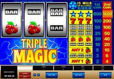 Triple Magic on erikkoinen ja tosi hyvää Microgaming kolikkopeli netissä! Jos haluat voitta suuret voittot, ilmaan muuta aloita pelata tämän valtava kolikkopeli missä on 3 rullat ja 1 voittolinja, vltava grafiikka ja erilaiset bonukset jokaisille pelajaalle joka tykkä pelata ja voita verkossa!