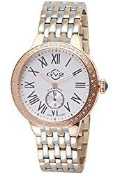 de55b7f83ce7 GV2 by Gevril Astor Womens Diamond Swiss Quartz Two Tone Rose Gold and  Stainless Steel Bracelet Watch