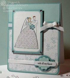 A razzle dazzle wedding card