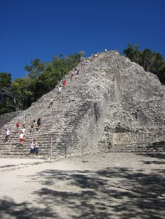 Coba, Mayan Riviera, Mexico. Hot day, not very adventurous, but I'm climbing this baby!