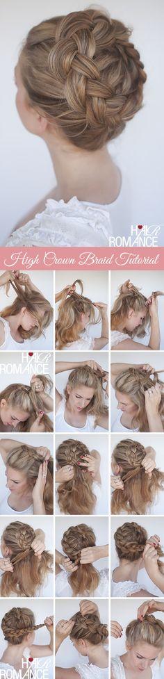 high braided crown tutorial braid crown tutorial, braided crown tutorial, hair style tutorials, braided crown hairstyles, braid tutorials, hairstyle tutorials, hairstyles tutorials, braid hairstyles, braid crowns