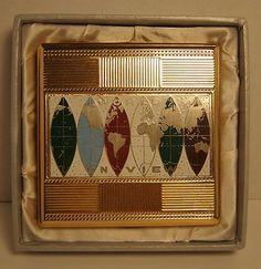 Vintage Trade Mark Pearl Cigarette Case In Original Box World On View JAPAN